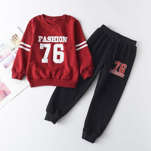 Red & Black Fashion Tracksuit Set - Sizes (2T-6)