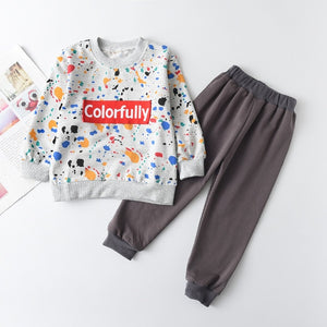 Colorfully Tracksuit Set - Sizes (2T-6)