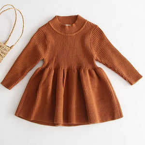 Knit Sweater Dress - Brown - Sizes (3M-4T)