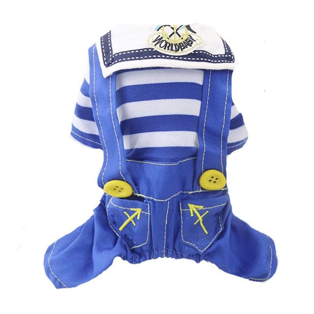 Sailing Away Jumpsuit - Pet Sizes (S - XXL) (Blue)