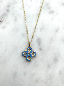 Louis Vuitton Double Sided Blue and Orange Charm Necklace