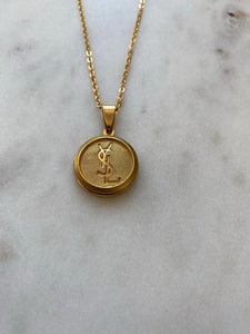 YSL Gold Button Necklace