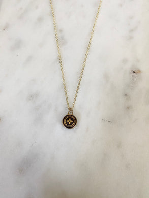 Louis Vuitton Burgundy Brown and Gold Blossom Charm Necklace