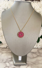 Load image into Gallery viewer, Louis Vuitton Double Sided Pink and Green Charm Necklace