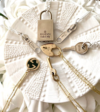 Load image into Gallery viewer, Gucci Silver Mini Key Charm Necklace