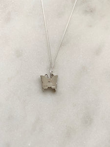 Gucci Silver Butterfly Charm Necklace