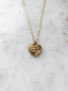 Dior CD Gold Heart Charm Necklace