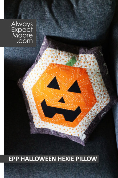 EPP Halloween Hexie Pillow
