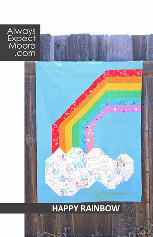 Happy Rainbow Mini Quilt