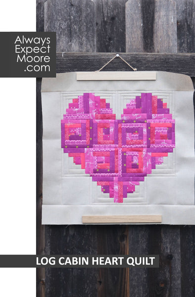 Log Cabin Heart Quilt