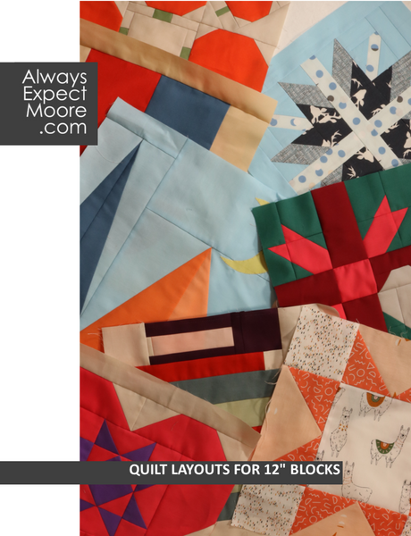 "Quilt Layouts for 12"" Blocks - Digital Book Front Cover"