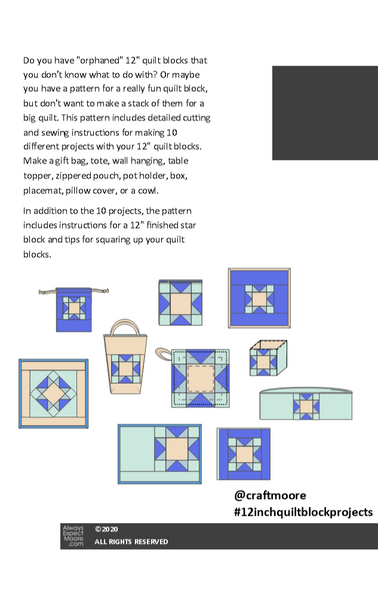 "Ten 12"" Quilt Block Projects - Digital Book"