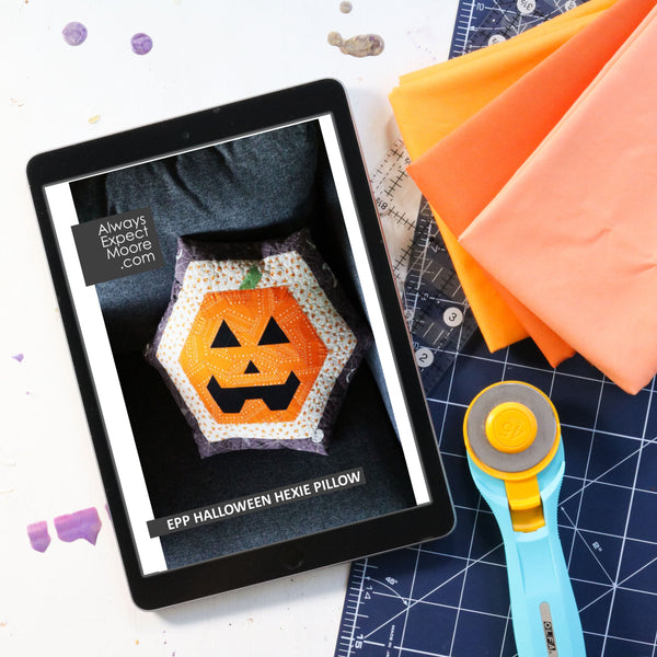 Halloween Hexie Pillow - Digital Download