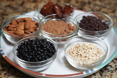 Ingredients for our Double-Chocolate Cookies!