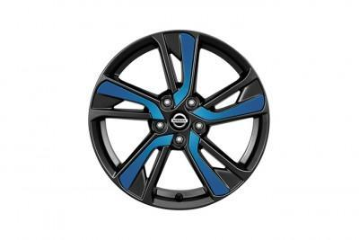 Nissan Juke Blue (B51) Laminate Alloy Wheel Inserts up to chassis #147869