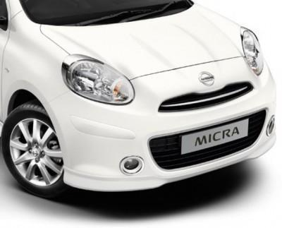 Nissan Micra (K13K) Headlamp Finishers, Chromed 2010-2013