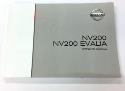 Nissan NV200/Evalia (M20M) Owners Manual, English 2009-2018