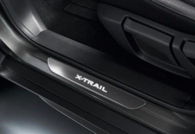 Nissan X-Trail (T32C) Black Entry Guards, Illuminated
