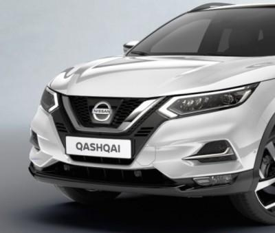 Nissan Qashqai (J11B) Glossy Black Front Lip Finisher