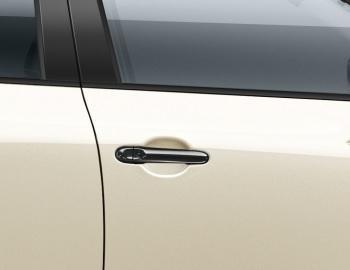 Nissan Juke/Micra/Note Front Side Door Handle Covers, Black (w/o I-Key)