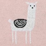 Llama Pink 100% Cotton Cellular Blanket Ideal for Prams, cots. 100cm x 80cm
