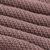 Coffee Brown Classic Knit 100% Cotton Cellular Blanket Ideal for Prams, cots 100cm x 80cm