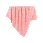 Pink Hearts 100% Cotton Cellular Blanket Ideal for Prams, cots 100cm x 80cm