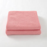Pink Classic Knit 100% Cotton Cellular Blanket Ideal for Prams, cots 100cm x 80cm