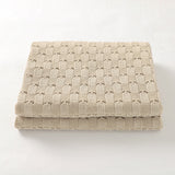 Off White Weave 100% Cotton Cellular Blanket Ideal for Prams, cots 100cm x 80cm
