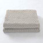 Grey Knitted 100% Cotton Cellular Blanket Ideal for Prams, cots 100cm x 80cm