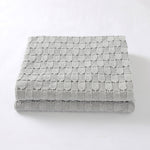 Grey Weave 100% Cotton Cellular Blanket Ideal for Prams, cots 100cm x 80cm