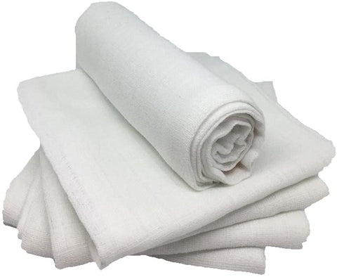 Muslin Squares - Pure White - 100% Cotton - Pack of 5