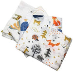 Animal Friends Baby Muslins Squares - Set of 4  Size 60cm x 60cm