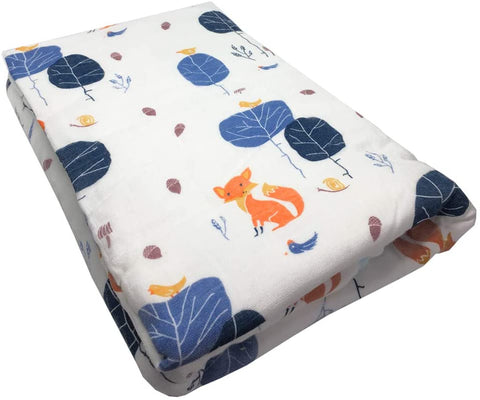 Blue Fox 6-Layer Bamboo/Cotton Thick Muslin Blankets 120cm x 120cm