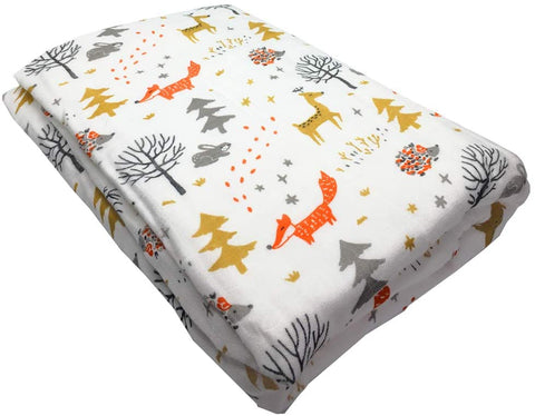 Red Foxes 6-Layer Bamboo/Cotton Thick Muslin Blankets Premium  120cm x 120cm