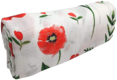 Flower Designs Swaddle Blanket 120cm x 120cm