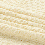 Off White Knitted 100% Cotton Cellular Blanket Ideal for Prams, cots 100cm x 80cm
