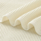 White Classic Knit 100% Cotton Cellular Blanket Ideal for Prams, cots 100cm x 80cm
