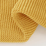 Yellow Classic Knit 100% Cotton Cellular Blanket Ideal for Prams, cots 100cm x 80cm
