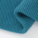 Teal (Blue-Green) Classic Knit 100% Cotton Cellular Blanket Ideal for Prams, cots 100cm x 80cm