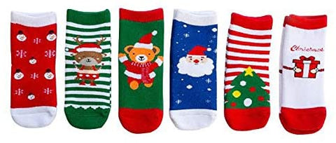 New Super 6 - Christmas toddler Socks!