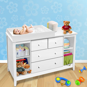 Artiss Change Table with Drawers - White