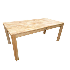 Rubberwood Rectangle Table 120