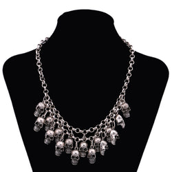 Vintage Rock Punk Skull Halloween Necklace