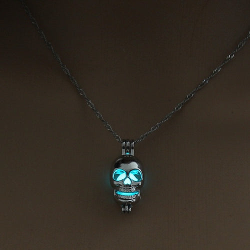 Silver Skull Pendant Necklace Jewelry