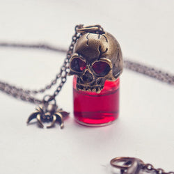Retro Blood Bottle Charm Pendant Necklace