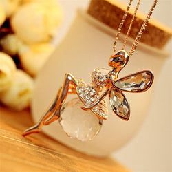 Crystal Shiny Fair Rhinestones Pendant Necklace