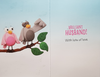 Anniversary Card - Wife / Two Cute Love Birds On A Branch