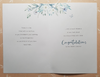 Wedding Card - White Floral Heart on Gold Background