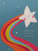 Thank You Card - Rainbow Coming out of Happy Star